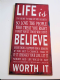 Life Is Too Short.... Vintage Distressed Metal Wall Sign.